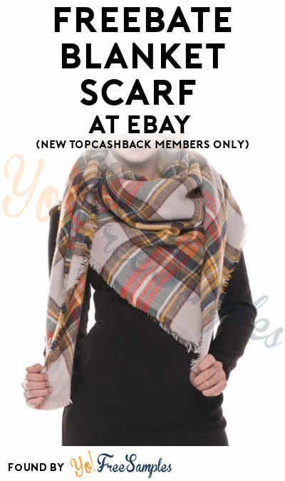 FREEBATE Blanket Scarf At eBay (New TopCashBack Members Only)