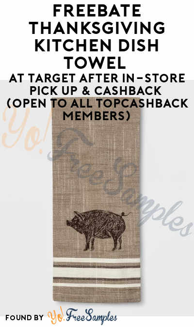 FREEBATE Thanksgiving Kitchen Dish Towel At Target After In-Store Pick Up & Cashback (OPEN TO ALL TopCashBack Members)