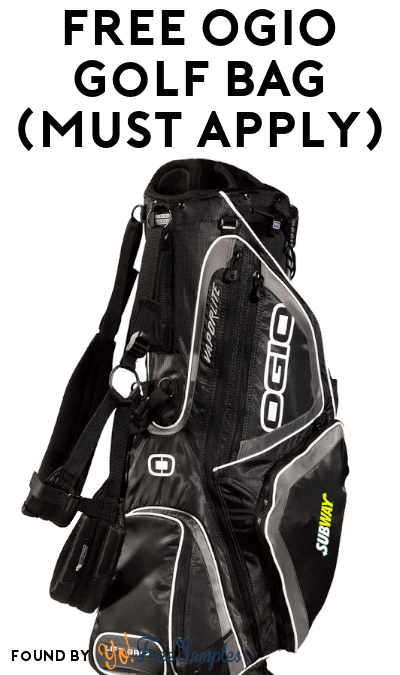 FREE OGIO Golf Bag (Must Apply)