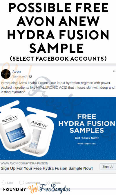 Possible FREE Avon Anew Hydra Fusion Sample (Select Facebook Accounts)