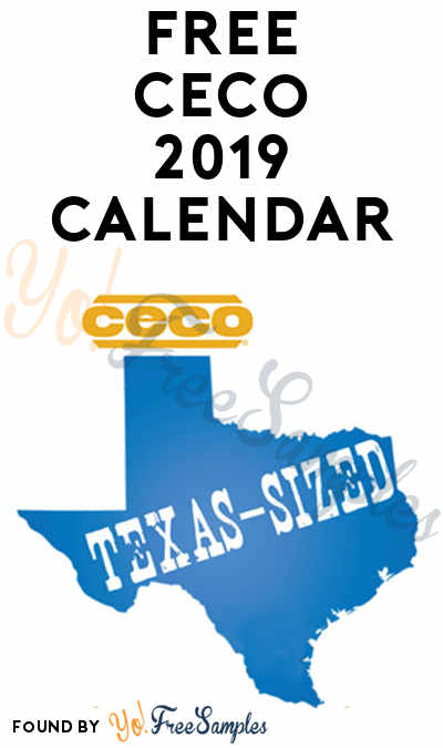 FREE CECO Texas-Sized 2019 Wall Calendar