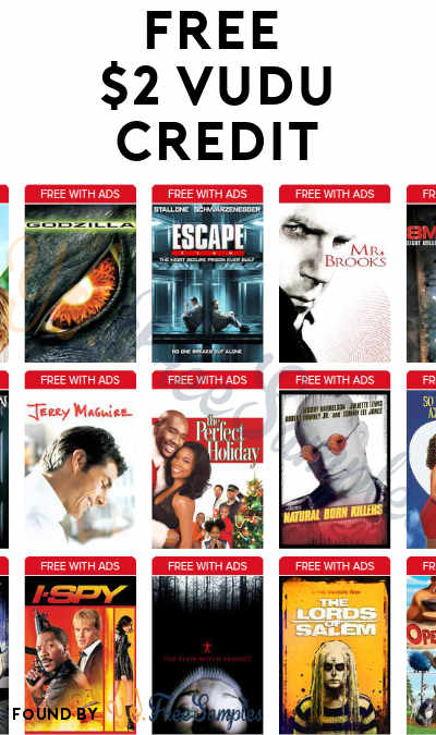 TODAY (1/30) ONLY: FREE $2 VUDU Credit