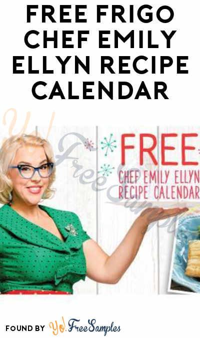 FREE Frigo Chef Emily Ellyn 2019 Recipe Calendar