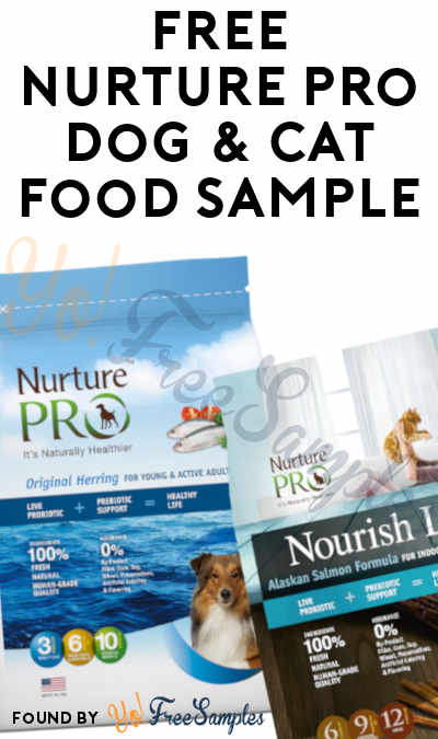 FREE Nurture Pro Dog & Cat Food Sample