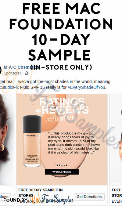 FREE MAC Foundation 10-Day Sample (In-Store Only)