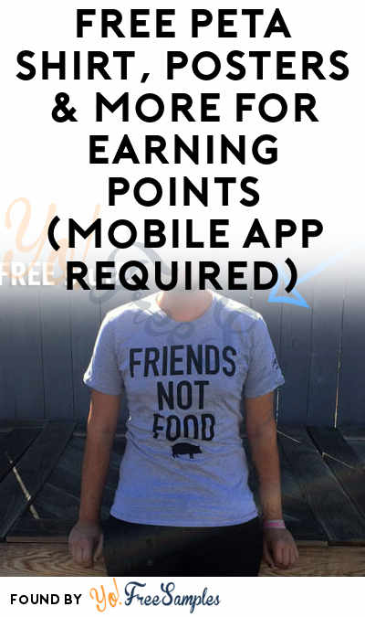 FREE PETA2 Shirt, Posters & More For Earning Points (Mobile App Required)