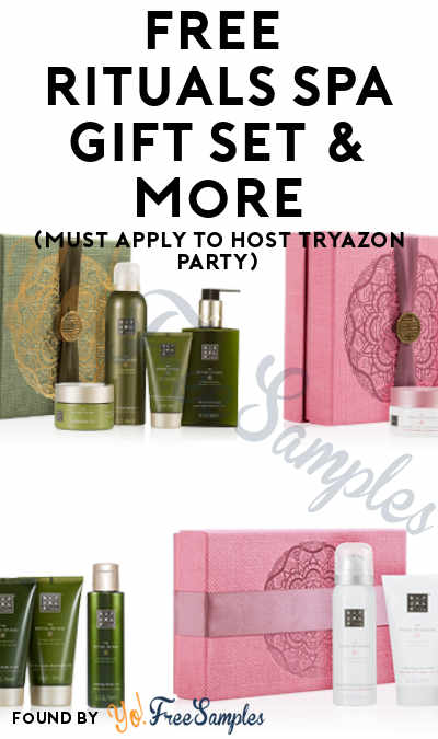 FREE Rituals Spa Gift Set & More (Must Apply To Host Tryazon Party)