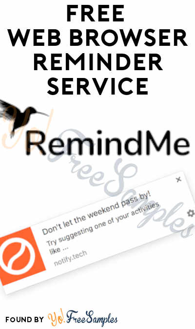 FREE Reminder Notification Service