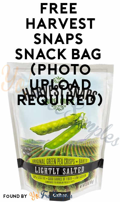 FREE Harvest Snaps Snack Bag (Photo Upload Required)