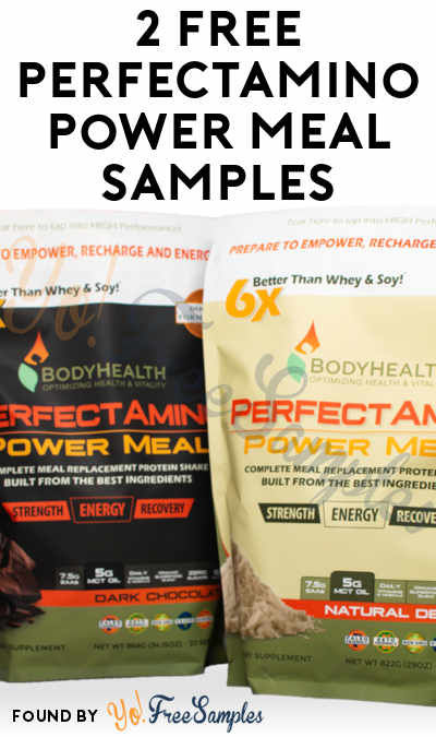 2 FREE PerfectAmino Power Meal Samples