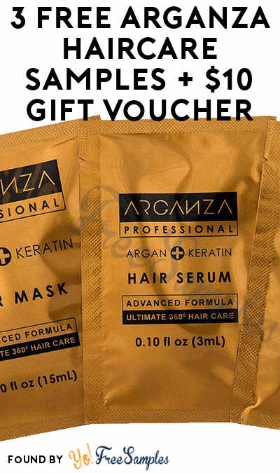 3 FREE Arganza Haircare Samples + $10 Gift Voucher