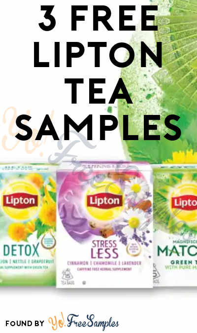 3 FREE Lipton Tea Samples