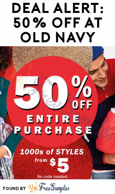 DEAL ALERT: 50% Off At Old Navy Through 11/23