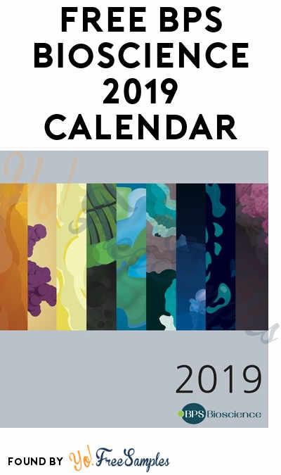 FREE BPS Bioscience 2019 Calendar