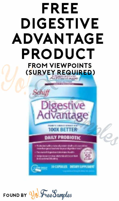 FREE Digestive Advantage Product From ViewPoints (Survey Required)