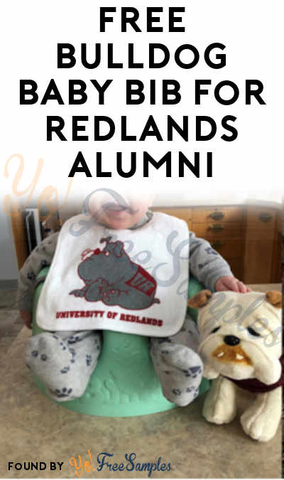 FREE Bulldog Baby Bib For Redlands Alumni
