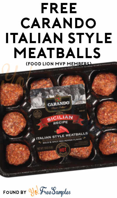 FREE Carando Italian Style Meatballs (Food Lion MVP Members)