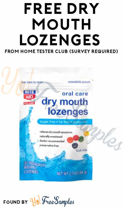 FREE Dry Mouth Lozenges From Home Tester Club (Survey Required)