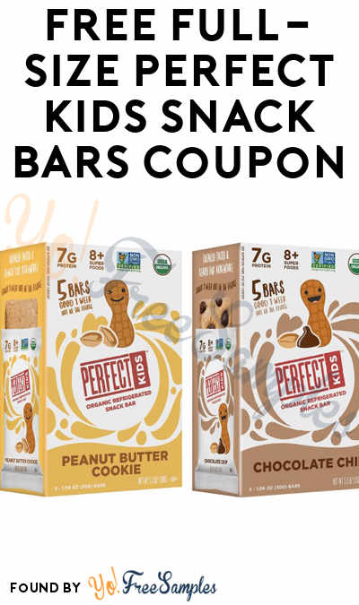 FREE Full-Size Perfect Kids Snack Bars Coupon