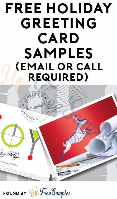 FREE Holiday Greeting Card Samples (Email or Call Required)