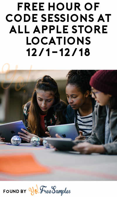 FREE Hour of Code Sessions At All Apple Store Locations 12/1-12/18