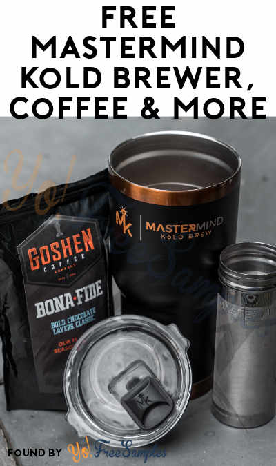 FREE Mastermind Kold Brewer, Coffee & More For Referring Friends (Email Confirmation Required)
