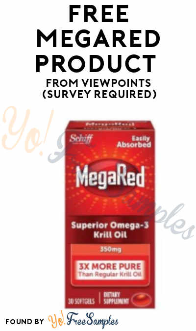FREE MegaRed Product From ViewPoints (Survey Required)