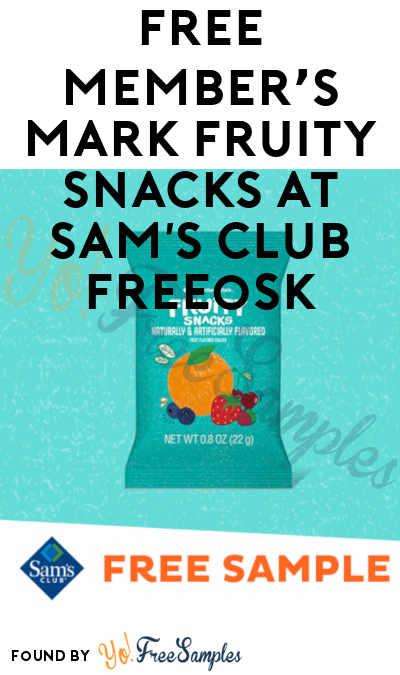 FREE Member's Mark Fruity Snacks At Sam's Club Freeosk