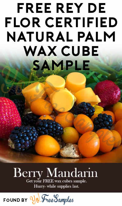 FREE Rey De Flor Certified Natural Palm Wax Cube Sample