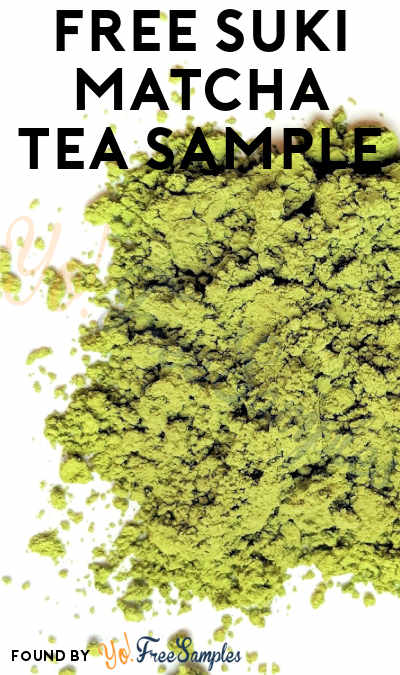 FREE SUKI Matcha Tea Sample