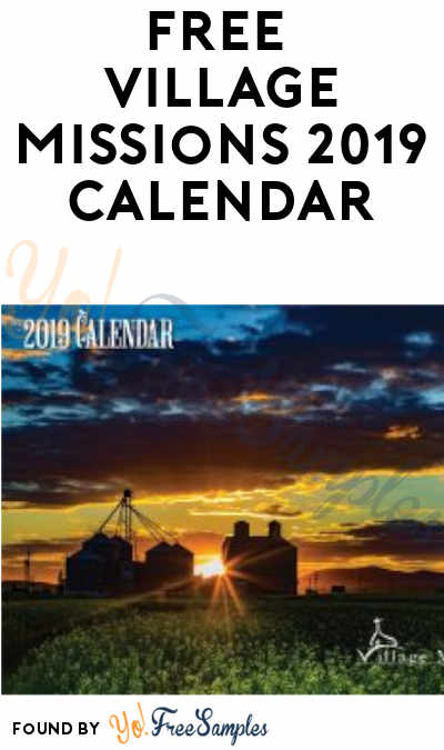 FREE Village Missions 2019 Calendar
