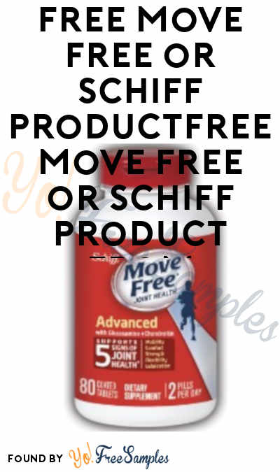 FREE Move Free or Schiff Product From ViewPoints (Survey Required)