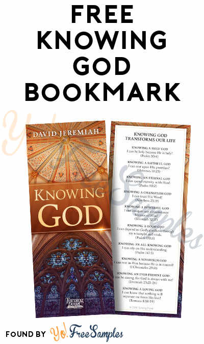 FREE Knowing God Bookmark