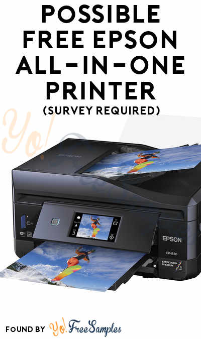 Possible FREE Epson All-in-One Printer (Survey Required)