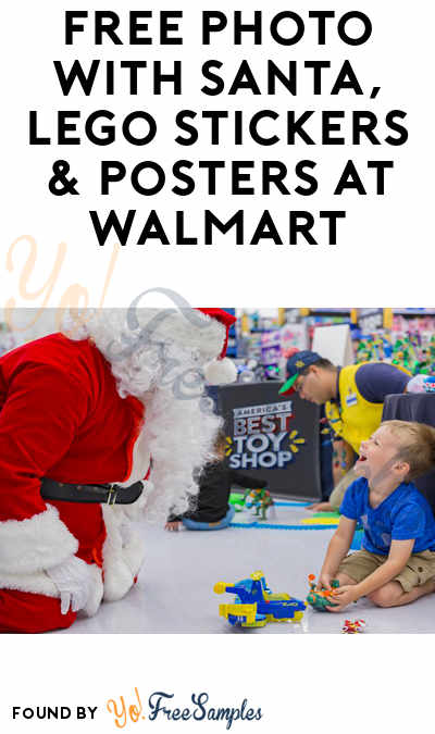 TODAY (11/3): FREE Photo With Santa & Lego Stickers & Posters At Walmart 1-4PM