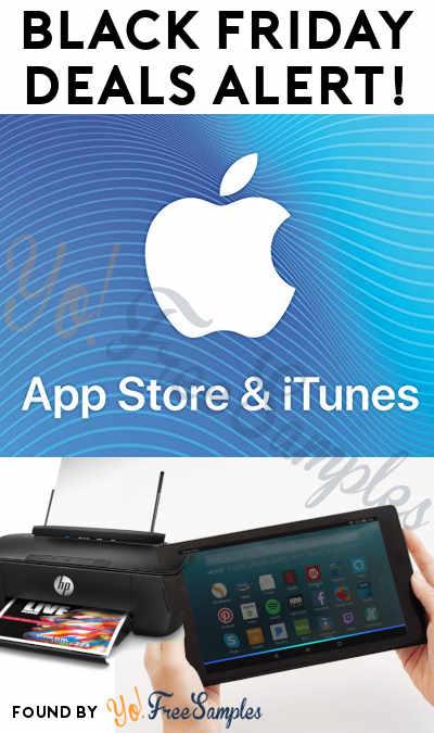 BLACK FRIDAY DEALS ALERT: $100 iTunes Card For $80, Fire TV, HP Printer & More