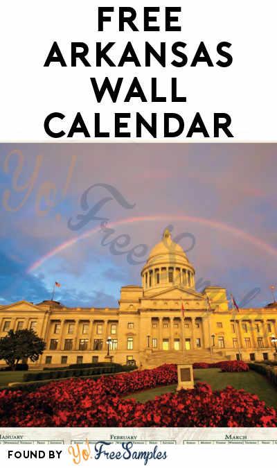 FREE Arkansas 2019 Wall Calendar