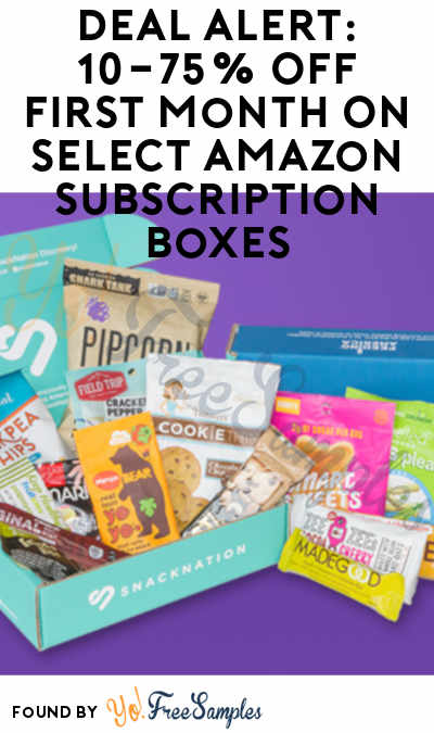 DEAL ALERT: 10-75% Off First Month On Select Amazon Subscription Boxes