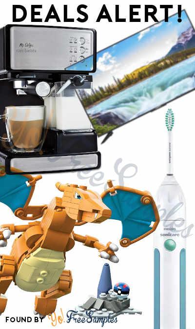 DEALS ALERT: Mr. Coffee, 50% OFF TVs, Pokemon Charizard, Philips Sonicare & More
