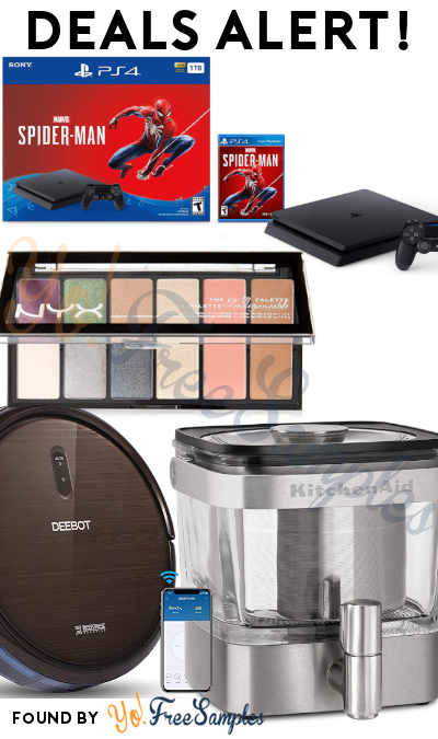 DEALS ALERT: ECOVACS DEEBOT Robot Vacuum Cleaner, NYX Makeup Palette, Roku Stick, PS 4 Slim & More