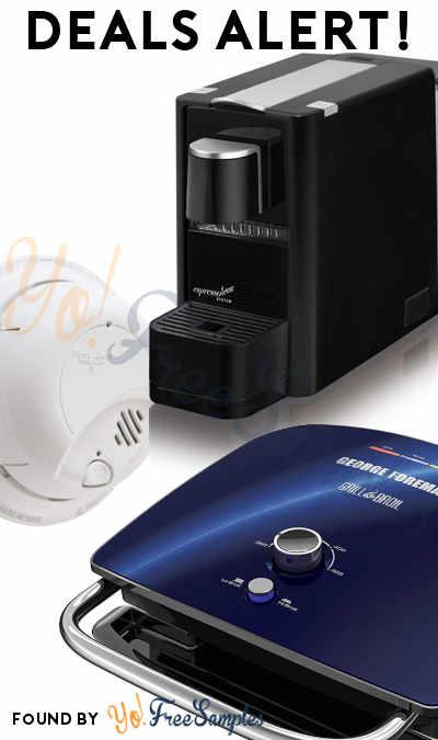 DEALS ALERT: FREE Espressotoria Machine, George Foreman, Wireless Charger, Smoke Detector Alarm & More