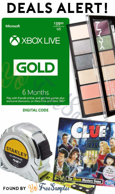 DEALS ALERT: 50% OFF Xbox Live Gold, Chrome Tape Ruler, NYX Professional Makeup Palette, Clue Game & More
