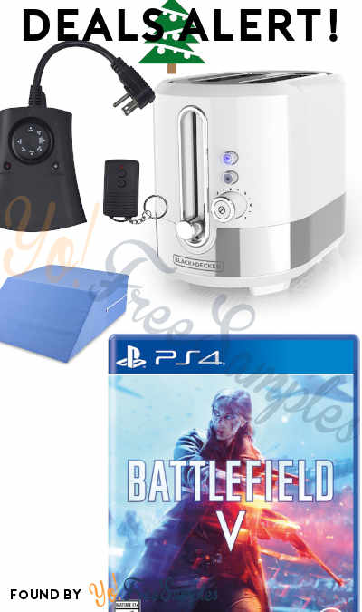 DEALS ALERT: 50% OFF Battlefield V, Black+Decker Extra Wide Toaster, Outdoor timer, Tons Of Toys & More At Amazon, Target & Walmart