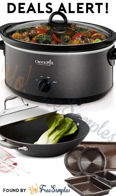 DEALS ALERT: Crock Pot, Sonicare, Circulon Bakeware, Anolon Wok & More