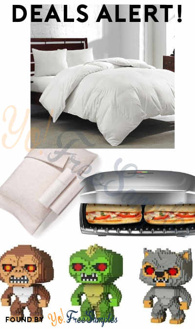 DEALS ALERT: White Goose Feather Comforter, Queen Sheet Set, 13-Pc. Cookware Set & More