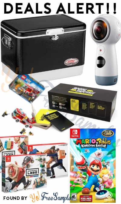 DEALS ALERT: Mario + Rabbids Kingdom Battle, Gear 360 4K Camera, Labo Kits, Social Sabotage, Coleman Cooler & More