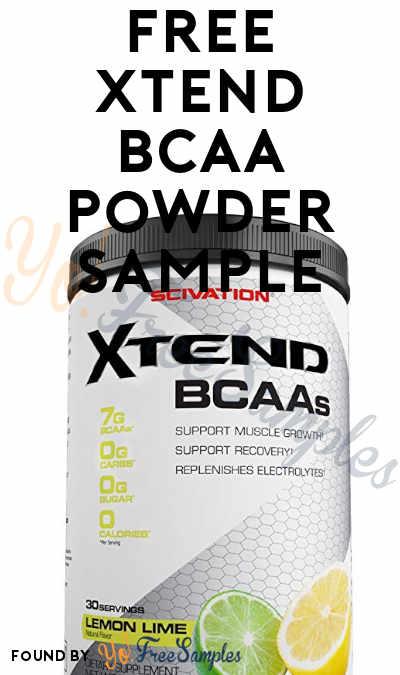 FREE Xtend BCAA Powder Sample