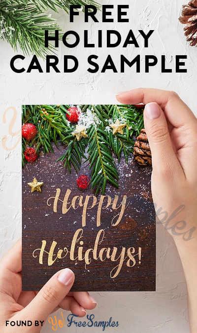 FREE Holiday Card Sample