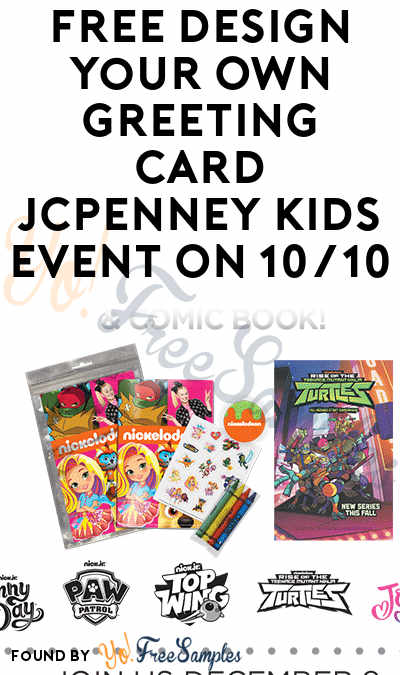 FREE Nickelodeon Coloring Pack, Stickers & Comic Book JCPenney Kids Event On 10/10