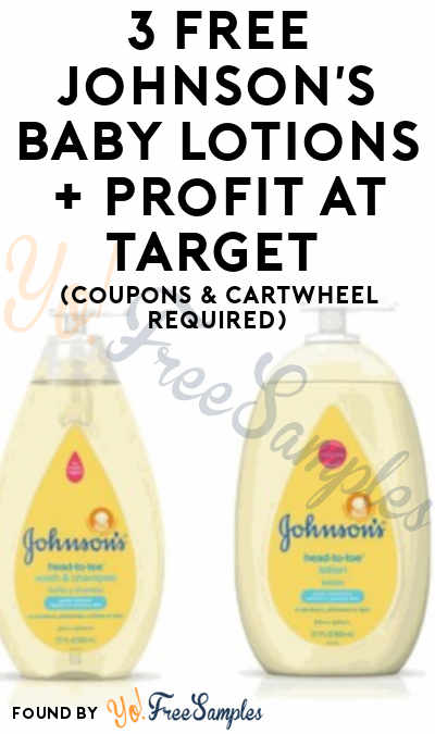 3 FREE Johnson's Baby Lotions + Profit At Target (Coupons & Cartwheel Required)